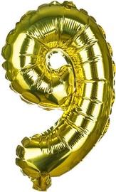 Balons Banquet Foil Balloon 9 Gold 30cm