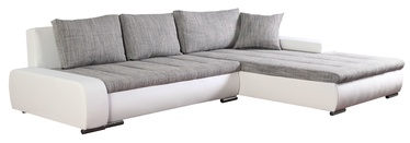 Stūra dīvāns Platan Tivano Gray/White, 302 x 213 x 80 cm