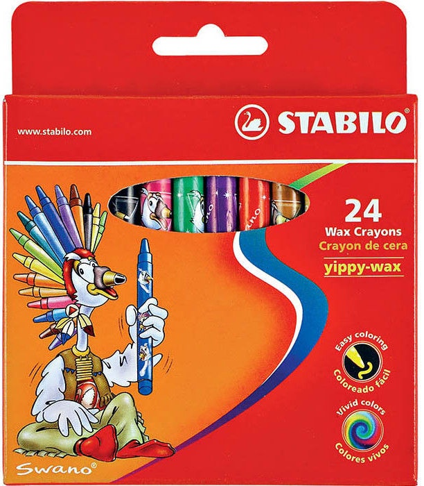 Stabilo Yippy Wax Crayons 24pcs
