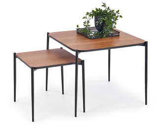 Halmar Guardia Square Coffee Tables Walnut/Black