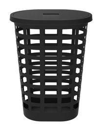 Plast Team Boston Oval Laundry Basket 54l Black