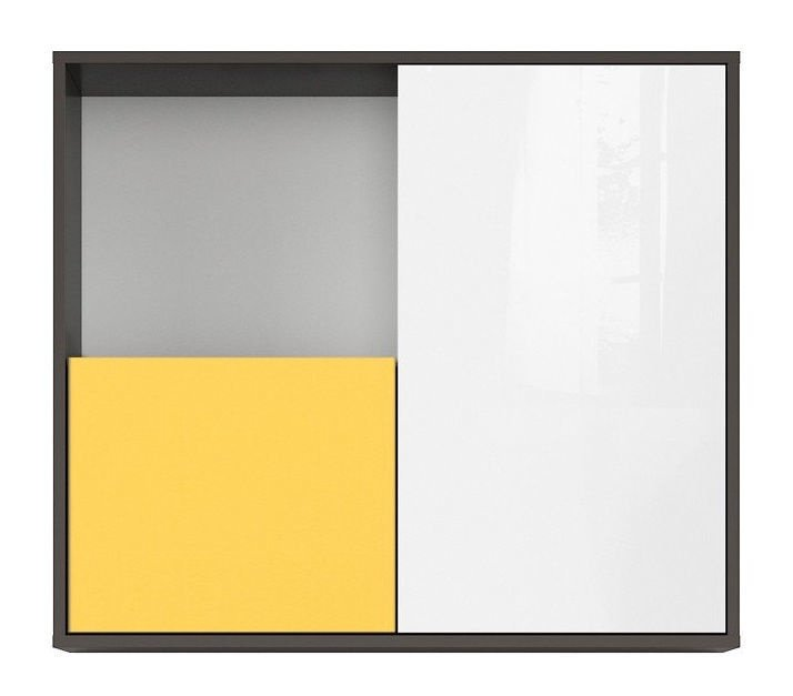Black Red White Graphic SFW2D Cupboard Yellow/Grey/White