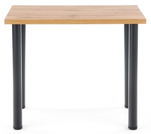 Pusdienu galds Halmar Modex 2 90, melna/ozola, 900x600x750mm