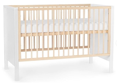 Bērnu gulta KinderKraft Mia, balta, 65x129 cm