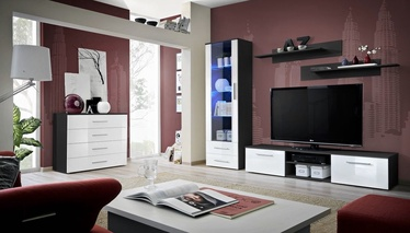 ASM Galino B Wall Unit Black/White Gloss