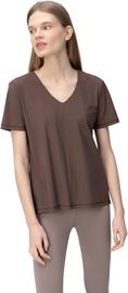 Женская футболка Audimas Sensitive, коричневый, S