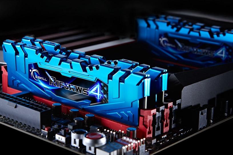 G.SKILL RipJaws 4 Blue 8GB 3200MHz CL16 DDR4 KIT OF 2 F4-3200C16D-8GRB