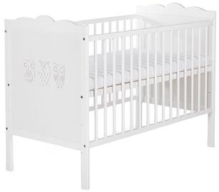 Детская кровать Klups Marsell White, 120x60 см