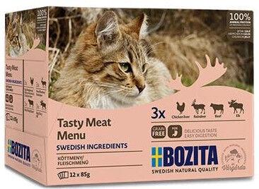 Влажный корм для кошек (консервы) Bozita Tasty Meat Menu Multibox 12x85g
