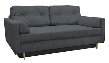 Dīvāngulta Idzczak Meble Astoria Queens 23 Dark Grey, 216 x 100 x 74 cm
