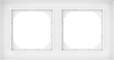 Рамка Vilma R02 2V, белый