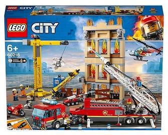 Konstruktors LEGO® City 60216 Pilsētas centra ugunsdzēsēju brigāde