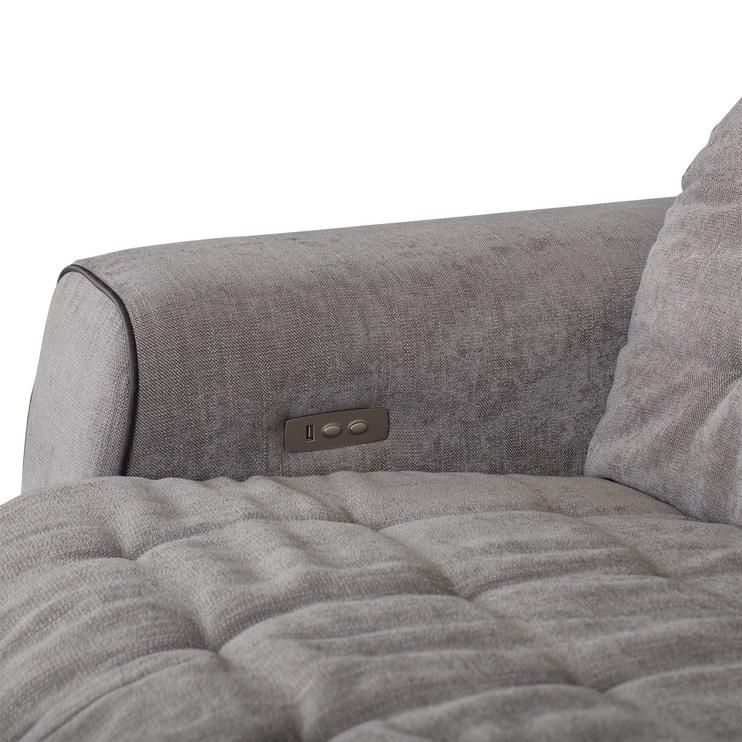 Stūra dīvāns Home4you Lund RC Grey, 170 x 294 x 100 cm
