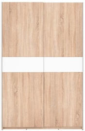 Skapis Black Red White F27 125 Oak, 125x62x195 cm