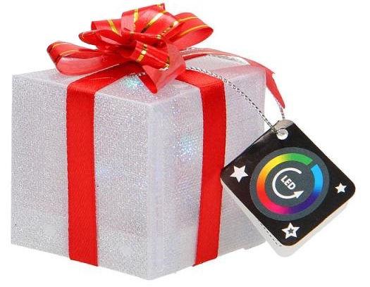 Dekorācija Diana LED Giftbox Decor 5cm