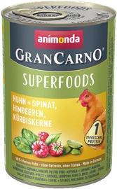 Mitrā suņu barība (konservi) Animonda GranCarno Superfoods Dog Wet Food With Chicken 400g