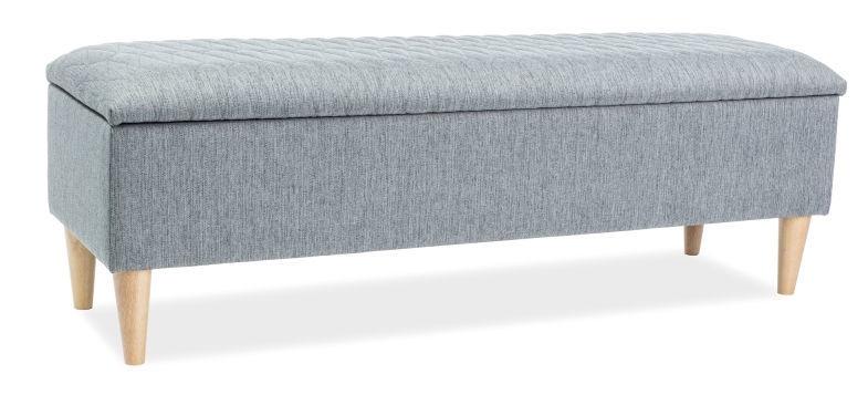 Пуф Signal Meble Azurro Grey, 129x40x45 см