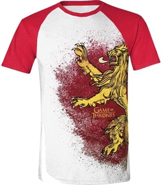 Licenced Game Of Throne Painted Lannister Raglan T-Shirt White/Red S