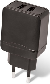 Setty Dual USB Wall Charger 2.4A Black