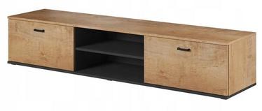 ТВ стол Cama Meble Soho 180, черный/дубовый, 1800x430x370 мм