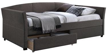 Кровать Home4you Genesis K288613, серый, 220x98 см, с матрасом, с решеткой