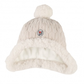 Cepure Lodger Empire Fleece, balta, 3-6 mēn.