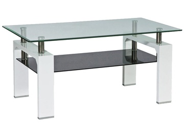 Kafijas galdiņš Signal Meble Lisa Basic II White/Black, 1000x600x550 mm