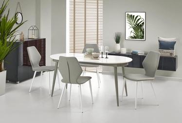 Обеденный стол Halmar Crispin White Gray, 1600x900x760 мм