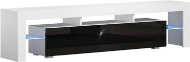 ТВ стол Pro Meble Milano 200 White/Black, 2000x350x450 мм