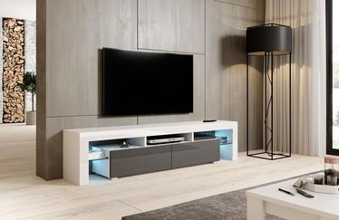 ТВ стол Cama Meble Toro 200, белый/серый, 2000x400x410 мм