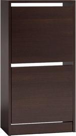 Шкаф для обуви Top E Shop Betsi 2x, коричневый, 490x280x940 мм