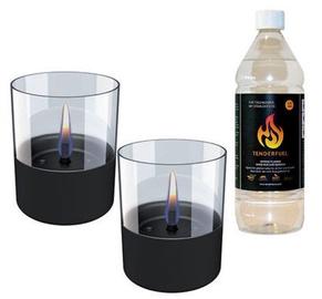 Tenderflame Lilly Table Burner Set 10cm Black