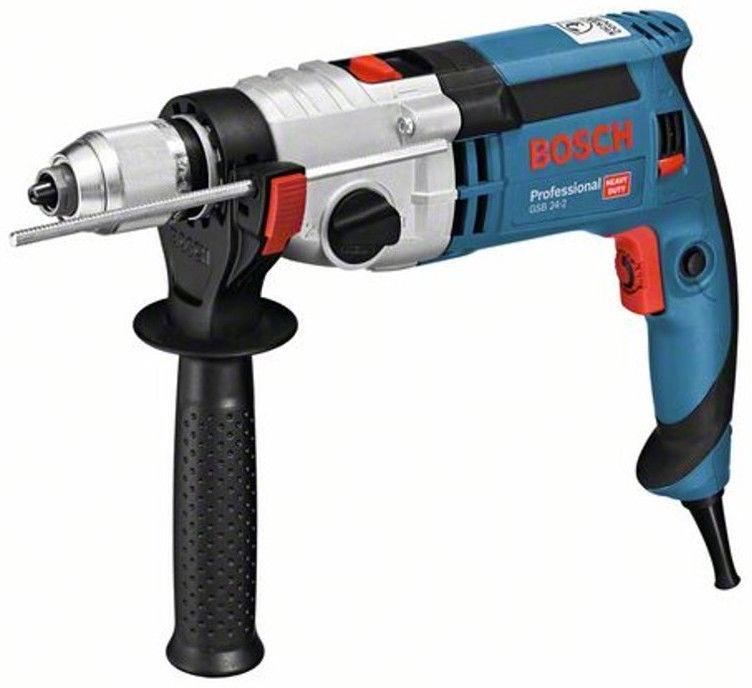 Triecienurbjmašīnas Bosch 060119C801 GSB 24-2 Professional Impact Drill