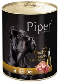 Dolina Noteci Piper Animals Wet Dog Food Chicken Hearts And Rice 800g