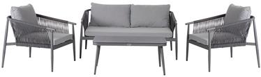 Комплект уличной мебели Home4you, серый, 4 места