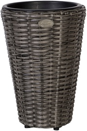 Home4you Flower Pot Wicker 28xH40cm Gray 35124