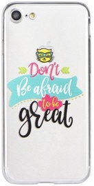 Blun Art Back Case For Apple iPhone 7 Don't Be Afraid