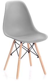 Ēdamistabas krēsls Homede Margot, pelēka, 4 gab.