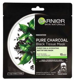 Garnier Skin Naturals Pure Charcoal Black Tissue Mask With Black Tea Leaves 1pcs