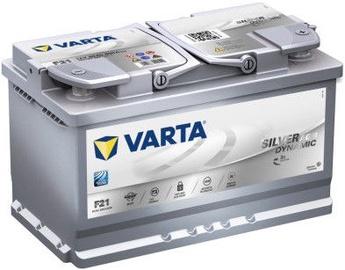 Akumulators Varta Silver Dynamic AGM F21, 12 V, 80 Ah, 800 A