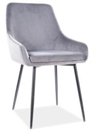 Стул для столовой Signal Meble Modern Albi Velvet, серый
