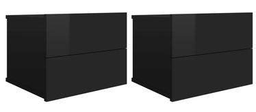 Naktsgaldiņš VLX Bedside Cabinets Set 801068, melna, 30x40x30 cm