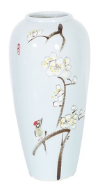Vāze Home4you Yoko Cherry Blossoms Light Blue, 280 mm