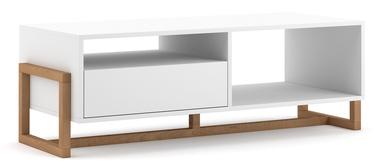 Kafijas galdiņš Vivaldi Meble Oslo, balta/dižskābarža, 1190x500x413 mm