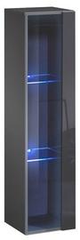Шкаф-витрина ASM Switch WW 2, серый, 30x30x120 см