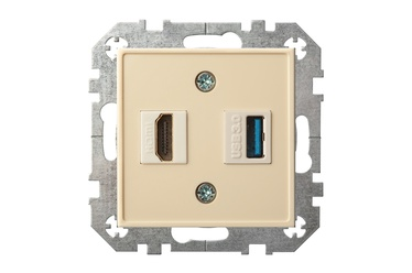 ROZETE LIREGUS EPSILON HDMI+USB B/R SM.