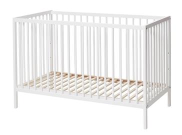 Bērnu gulta BabyDan Comfort White, 120x60 cm