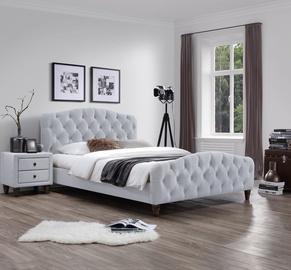 Кровать Home4you 4741243288164 Sandra, серый, 200x160 см, с решеткой
