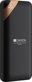 Uzlādēšanas ierīce – akumulators (Power bank) Canyon PB-102, 10000 mAh, melna