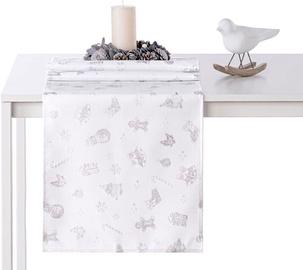 AmeliaHome Christmas Story AH/HMD Tablecloth Silver 30x100cm